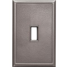 1 toggle screwless wall plate brushed nickel