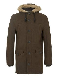 Mens Padded Hooded Coat - Coats & Jackets - Shop Department - Mens ...