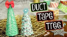DIY Duct Tape Christmas Tree // Holiday & Winter Decor How To // Collab with TheFrugalCrafter Diy Holiday Cards, Diy Christmas Presents, Christmas Crafts To Make, Christmas Gifts For Friends, Diy Christmas Tree, Christmas Bulbs, Easy Ornaments, Holiday Ornaments, Diy Weihnachten