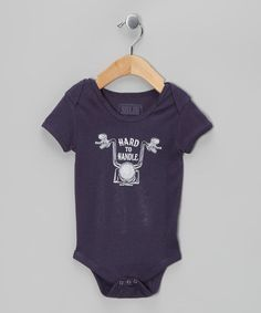 Take a look at this Navy Hard to Handle Bodysuit - Infant by Solid Threads on #zulily today!