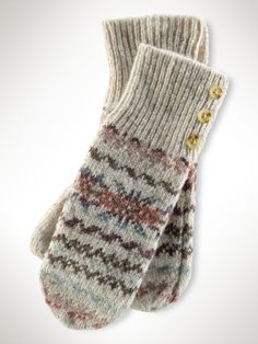 Ralph Lauren Fair Isle mittens - LOVE.- I like the heathered colours. Might have order some proper 4ply yarn and do isn myself