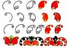 Картинки по запросу городецкая роспись как рисовать цветы