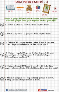 Com – Çözümlü Para Problemleri 2 ( EBA da paylaşabilirsiniz ) Communication, Thing 1, Bullet Journal, Math, Reading, Amigurumi, Math Resources, Reading Books, Communication Illustrations