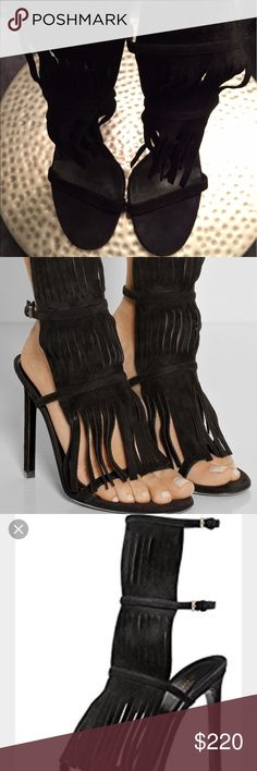 """Gucci Becky Fringe Sandals.🚧SALE WILL BE RECORDED These shoes have been gently worn but are in great condition.I do not purchase, sell or wear """"duplicated"""", """" replicated"""" or """"inspired"""" clothing or shoes as I am a lover of fashion. These shoes are 100% authentic and the Nordstrom tag is still visible on the sole of the shoe. Please pay close attention to the above listed pictures to serve as confirmation that these are truly Gucci's craftsmanship.CONSIDERING THAT I DO NOT HAVE THE BOX OR…"""