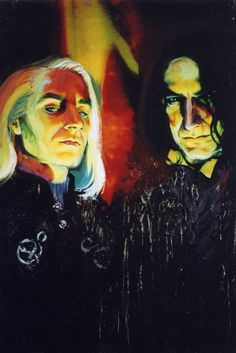 Lucius and Snape: Deatheaters by ~ElenaTria on deviantART