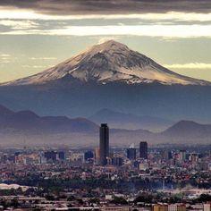 Volcán del Popo y Ciudad de Mexico