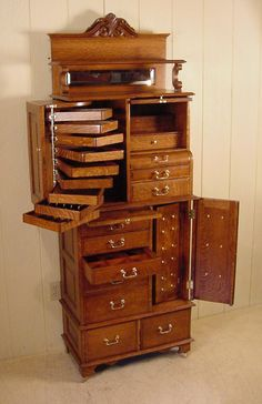 This has to be one of the coolest cabinets I've ever seen!  American Cabinet Co. Oak Dental Cabinet #54