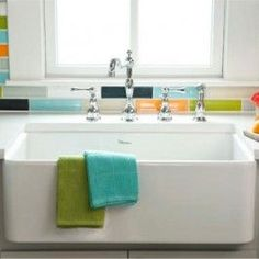 Whitehaus WH3018 Single Bowl Fireclay Farmhouse Apron Front  Kitchen Sink