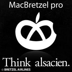 MacBretzel pro - Think Alsacien - Alsace - Elsass  © Bretzel Airlines  www.bretzelairlines.com