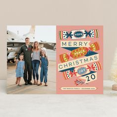 Christmas Cracker Holiday Photo Cards by Jenna Skead | Minted Holiday Photo Cards, Holiday Photos, Christmas Crackers, Very Merry Christmas, Joy, Holiday Pictures, Christmas Biscuits, Merry Little Christmas, Vacation Pictures