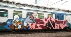 RIOT SDK @railburners _______________________ #madstylers #graffiti #graff #style #character #trainbombing #stylewriting #summer #sprayart #graffitiart