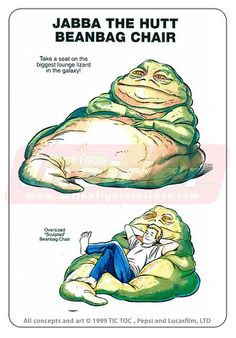 Jabba the Hut beanbag chair. I need one of these for movie nights
