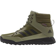 Adidas Outdoor CW Choleah Leather Sneaker ($108) ❤ liked on Polyvore featuring shoes, sneakers, adidas, leather shoes, adidas trainers, leather footwear and adidas footwear