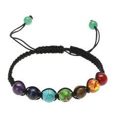 Yoga Beads Bracelet Chakra #beading #pearlerbeads #ideas