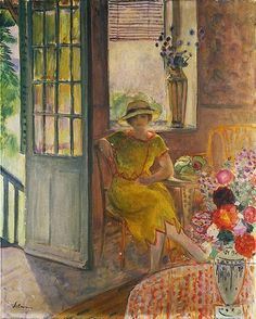 Nono in a Yellow Dress, Henri Lebasque. French (1865 - 1937)