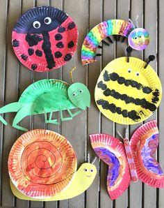 Jun 2019 - For the month of May we have been learning all about bugs. If you have figured out by now, I love arts and crafts. Since my kids are still little the easiest, and super cute, crafts are made out of… Insect Crafts, Bug Crafts, Daycare Crafts, Camping Crafts, Preschool Crafts, Kids Crafts, Camping Ideas, Camping Site, Arts And Crafts For Kids Toddlers
