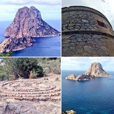 Vista de Es Vedrà, la Torre des Savinar y Atlantis ahora. La Ibiza legendaria. Fotos de @EnrCasanova Ibiza: History and Nature. Es Vedrà, Savinar watchtower and Atlantis now. The island eternal magic. Photos by @EnrCasanova
