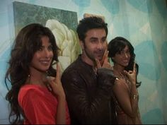 Ranbir Kapoor,ileana and Priyanka Chopra on the sets of Indian Idol.