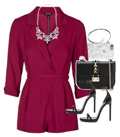 """Outfit for a Valentine's Day date"" by ferned on Polyvore featuring Casetify, Topshop, Valentino, Yves Saint Laurent, Forever New, Cartier, women's clothing, women, female and woman"
