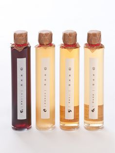 Healthy drinking fruit vinegars by Yokamon, Japan - The Effective Pictures We Offer You About Healthy Drinks for skin A quality picture can tell you many things Beverage Packaging, Bottle Packaging, Food Packaging, Brand Packaging, Packaging Design, Bottle Labels, Packaging Ideas, Organic Packaging, Japanese Packaging
