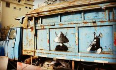 Old #shanghai #blue #garbage #truck in a #parking #lane. #shanghaistreetart #streetart #streetartshanghai #shanghaigraffiti #graffitishanghai #graffitichina #chinagraffiti #chinastreetart #shanghaiart #chinaart #smartshanghai #cityweekend #thatsshanghai #madeinchina #zhongguo #zhongguozhizao #stencil #graffiti #instagraff #instastreetart #streetartnews #streetartglobe #streetartcommunity