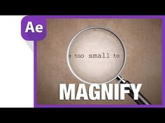 After Effects Tutorial Magnifying Glass