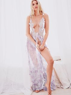 When you want to get all dressed up with no place to go. ;)   The Victoria's Secret Designer Collection Chiffon & Lace Gown