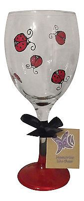 Cute Hand Painted Ladybird Wine Glass, Gifts For Gardners, Personalised Present