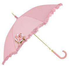 Frilly Pink Umbrella. HC