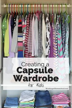 How to Create a Capsule Wardrobe for Kids Finally - my laundry and kids' rooms are under control! I used this list to figure out how to create a capsule wardrobe for kids, and it's helped SO much! Capsule Wardrobe Mom, Wardrobe Sets, Kids Wardrobe, Minimalist Kids, Minimalist Fashion, Minimalist Living, Minimalist Lifestyle, Kid Closet, Minimalist Wardrobe