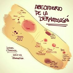 Abecedario de la dermatología vía @chuletadeosmin