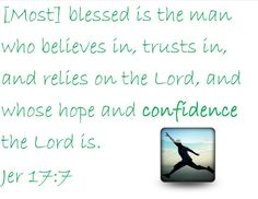 Let God be your confidence!