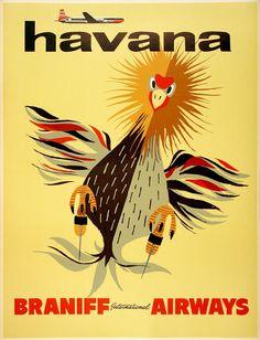 Havana • Braniff International Airways ~ Anonym
