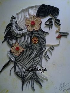My first try on doing a quilling portrait - by: Latha Jayaprakash - Quilling Café