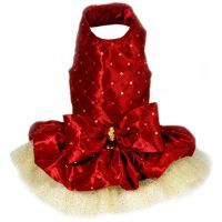 INSPIRATIONAL Lady In Red Dog Christmas Dress - Toni Mari - Dog Dresses