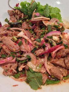 Yam Nuea,spicy grilled beef, thai - style salad