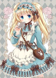 Alice in wonderland Chica Anime Manga, Manga Girl, Anime Art, Loli Kawaii, Kawaii Anime Girl, Alice Anime, Alice In Wonderland 1, Anime Angel, Princesas Disney
