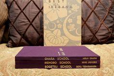 "Ikebana Book Set ""The Best of Ikebana"" Ikenobo Ohara Sogetsu Schools | Japanese Flower Arranging 3 hardcover books in slipcase Nageire Mint by HudsonPulpAndRockets on Etsy"