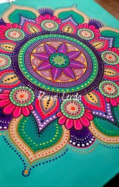 Romi Lerda Mandala Design, Mandala Dots, Mandala Drawing, Mandala Painting, Art Lotus, Painted Rocks, Hand Painted, Dot Art Painting, Deco Floral
