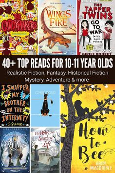 40 Great Books for 10 Year Olds: Page Turners for Fifth Graders Fiction Books For Kids, Best Fiction Books, Books For Boys, Best Books To Read, Great Books, Childrens Books, 5th Grade Books, Kids Reading, Reading Books