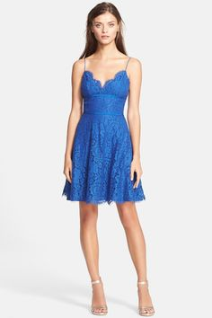 'Damasia' Lace Fit & Flare Dress by Joie on @nordstrom_rack