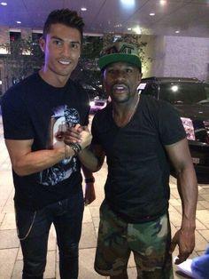 Cristiano Ronaldo y Floyd Maywheather Jr.