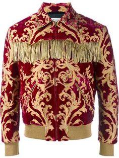 fringed brocade jacket