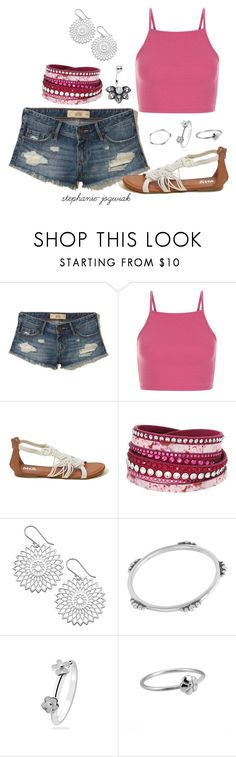 """""""Annika's Outfit for Audrianna's Baby Shower"""" by stephanie-jozwiak ❤ liked on Polyvore featuring Hollister Co., Swarovski and Midsummer Star"""
