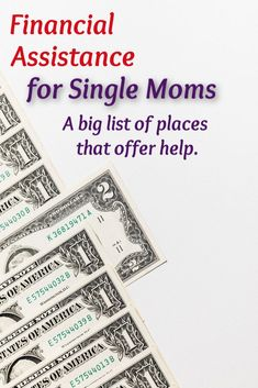 Financial help for single moms - if you're a single mom (or know one) that needs help check out this list. #personalfinance #singlemoms #financialhelp