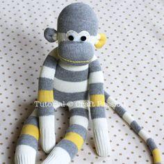 Tarif Dunyam: Çoraptan Maymun Yapımı Resimli Anlatım