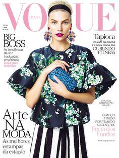 Aline Weber in #dolcegabbana covers Vogue Brazil, April 2013