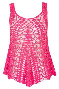 CROCHET VEST Ladies Fashion, Womens Fashion, Tank Tops, Lady, Crochet, Pink, Vest, Shopping, Women's Work Fashion