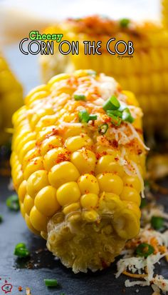 It's finally the corn season here! Let's make these super yummy buttered Cheesy Corn on the Cob! Perfect street food you can make at home! Ready just in 5 minutes! | giverecipe.com | #corn #cornonthecob #boiledcorn #cornrecipe #cheesycorn #butteredcorn #vegetarian #easycornrecipe #glutenfree #snack
