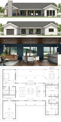 Small Home Plan Small Home Plans Small House Floor Plans smallhouse smallhomeplans floorplans architecture homepla Bungalow Floor Plans, Small House Floor Plans, House Plans One Story, Dream House Plans, Small House Plans, Modern Bungalow House Plans, House Floor Plan Design, One Story Houses, 1 Story House